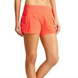 🍊🍊Athleta Ready Set Go Shorts Neon Orange XXS